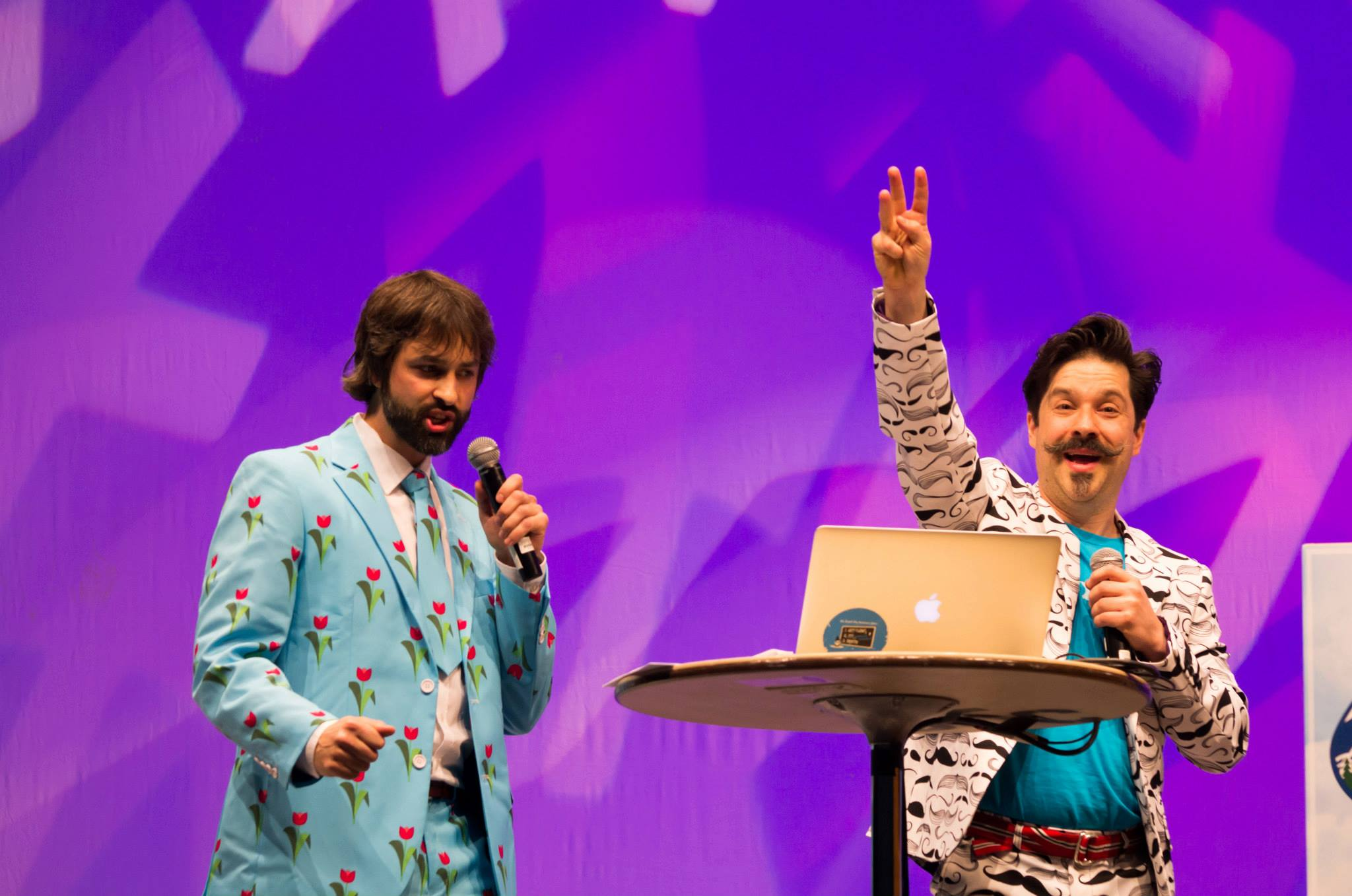 Your Drupal Gameshow Extravaganza hosts at DrupalCon Portland!